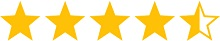 4,5 Sterne Rating