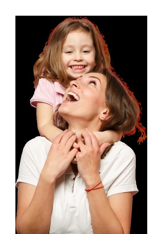 Bild von Mutter mit Tochter