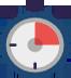 Icon mit Stoppuhr